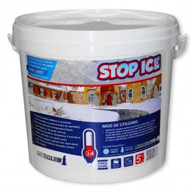 STOP ICE produs biodegradabil pentru deszapezire, prevenire/ combatere gheata, dezghetare rapida 5kg