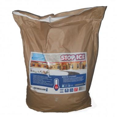 STOP ICE-produs biodegradabil pentru deszapezire, prevenire/ combatere gheata, dezghetare rapida 25kg