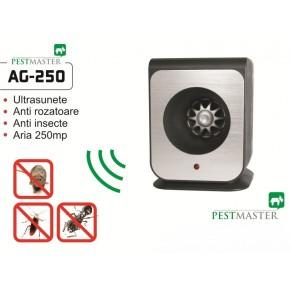 Aparat cu ultrasunete impotriva soarecilor gandacilor si altor insecte taratoare  Pestmaster AG250