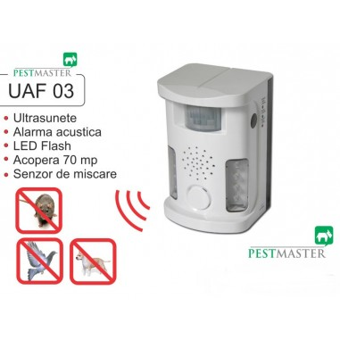 Ultrasound Repeller Pestmaster UAF03 (anti pasari, anti rozatoare, anti animale)