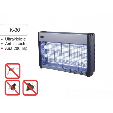 Aparat cu ultraviolete impotriva insectelor zburatoare precum tantari si muste IK 30 (acopera aprox. 200 mp)