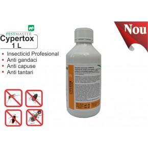 Insecticid profesional impotriva gandacilor, puricilor, mustelor, tantarilor, furnicilor - Cypertox 1L
