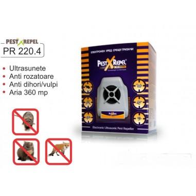 Aparat cu ultrasunete PR 220.4 Electronic Pest Repeller - 360 mp