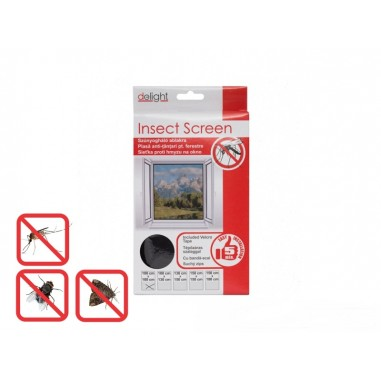Plasa anti insecte pentru ferestre 100x130 cm  alba