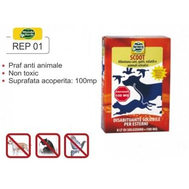 Praf solubil impotriva animalelor  anti caini pisici pasari  REP 01
