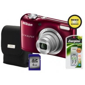 Aparat foto digital Nikon COOLPIX L27R 4GB/Acu/Hus, Compact, 16 Megapixeli, 5x, 4x