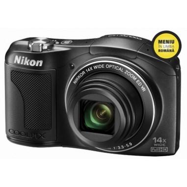 Aparat foto digital Nikon L610B, Super-Zoom, 16 Megapixeli, 14x, 2x