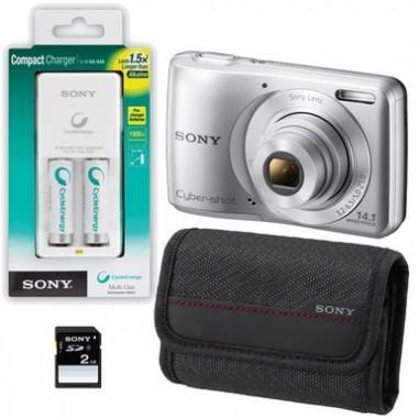 Aparat foto Sony DSC-S5000S + SD 2GB + Husa + Accu, Compact, 14 Megapixeli, 5x, 10x