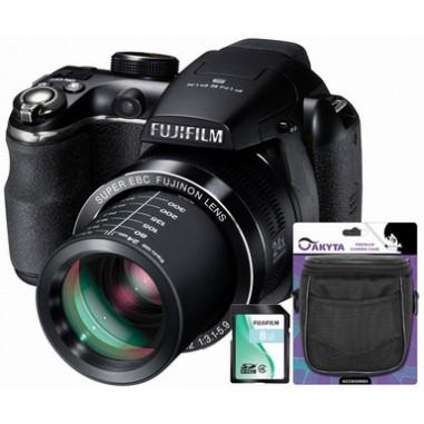 Aparat foto digital Fuji S4200 + Husa + CardSD8GB, Super-Zoom, 14 Megapixeli, 24x, 6.7x