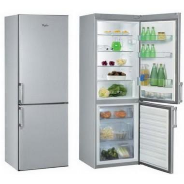 Combina frigorifica Whirlpool WBE 3414 TS, 1 compresoare, inox, 308 kWh/an