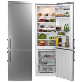 Combina frigorifica Arctic AK386BS+, argintiu, 281 kWh/an