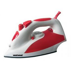 Fier de calcat Westwood T-603 Red, 2200 W, 300 ml, Sistem anti-calcar, Sistem anti-picurare, Controlul aburului, Abur vertical