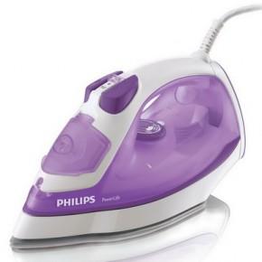 Fier de calcat Philips GC2930/02, 2200 W, 300 ml, 110 g/min, constant, 35 g/m, Jet de apa / spray, Sistem anti-calcar, Abur vertical