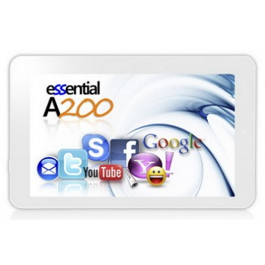 Tableta E-Boda Essential A200 7inch white, 4 GB, 5 ore, 7``, 800 x 480, 802.11b/g/n