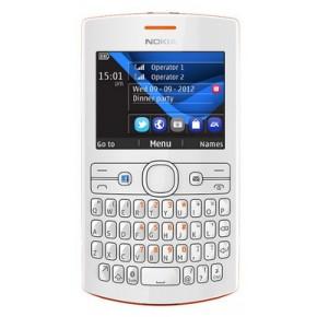 Telefon mobil 2SIM Nokia Asha 205 Orange White, 0.3 MP, Clasic, 240x320 pixeli